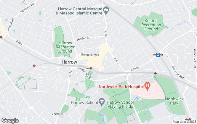 Map for Foxtons, Harrow