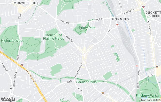Map for David Astburys Ltd, London