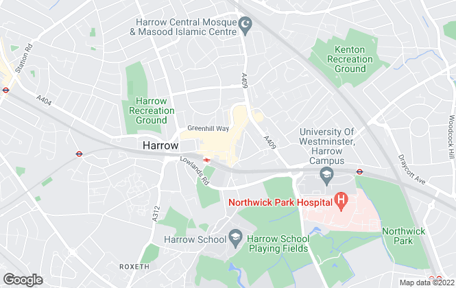 Map for Foxtons, Harrow