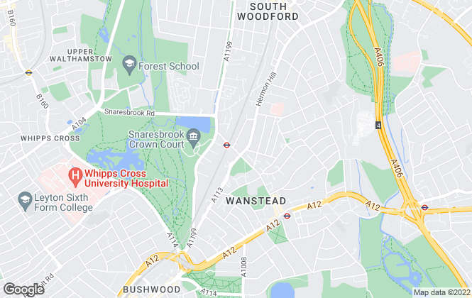 Map for Kurtis Property Services, Wanstead