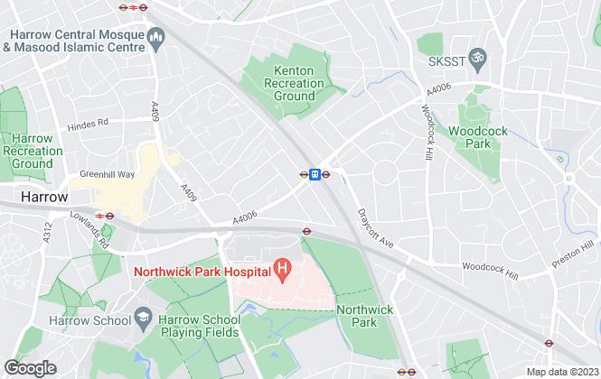 Map for Davidson Gold, Harrow
