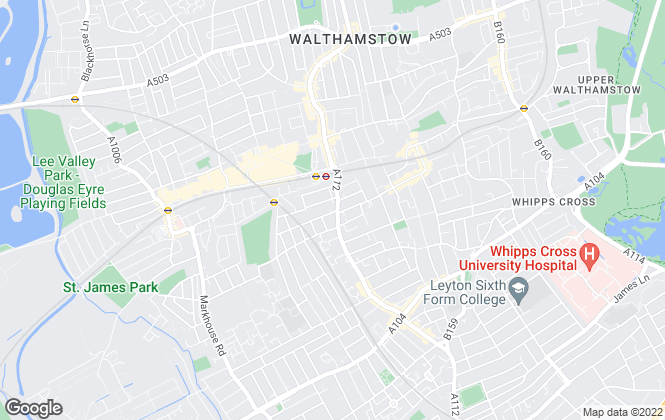 Map for CMC Estates, Walthamstow