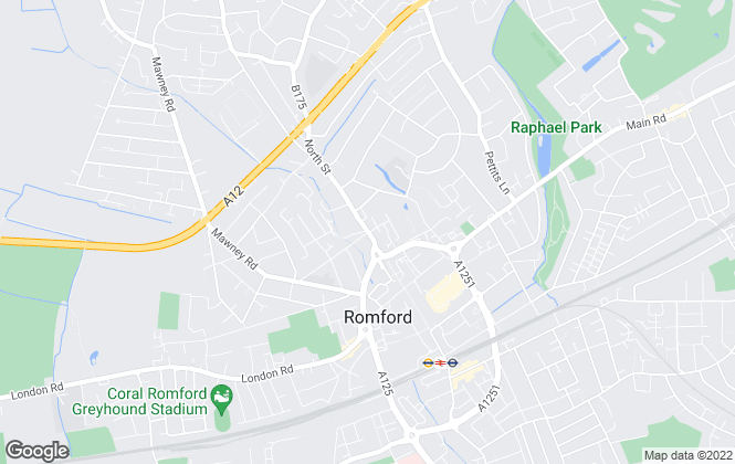 Map for Advance Estates, Romford