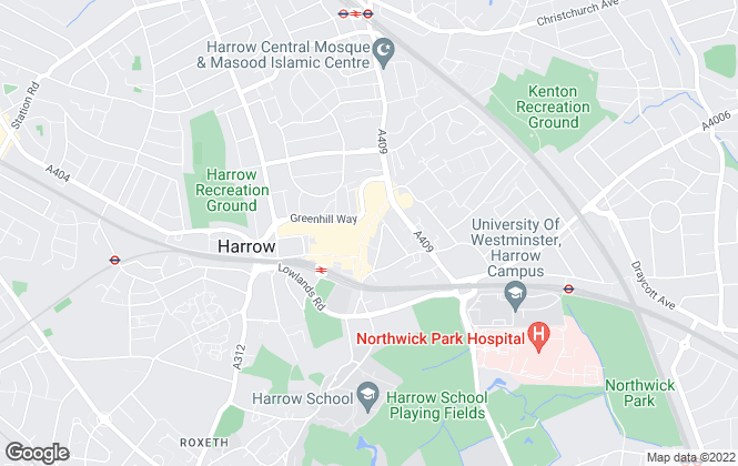 Map for Brian Cox, Harrow Lettings