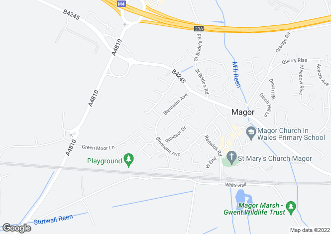 Map for Blenheim Avenue, Magor, Monmouthshire