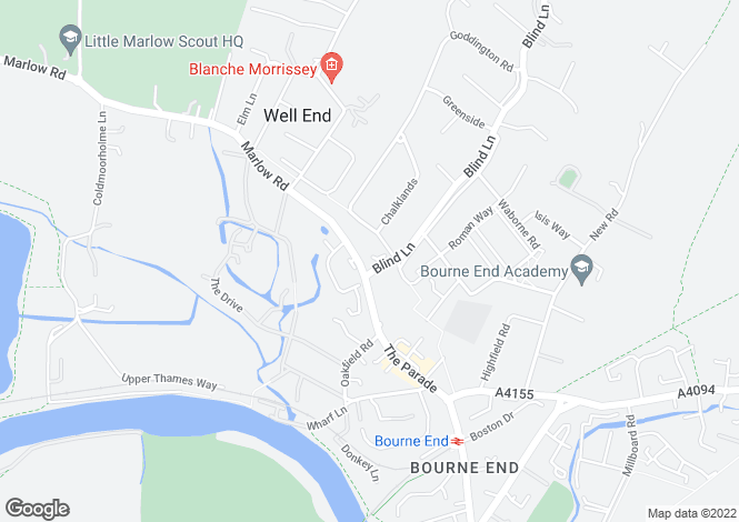Map for Rowan House, Bourne End, SL8