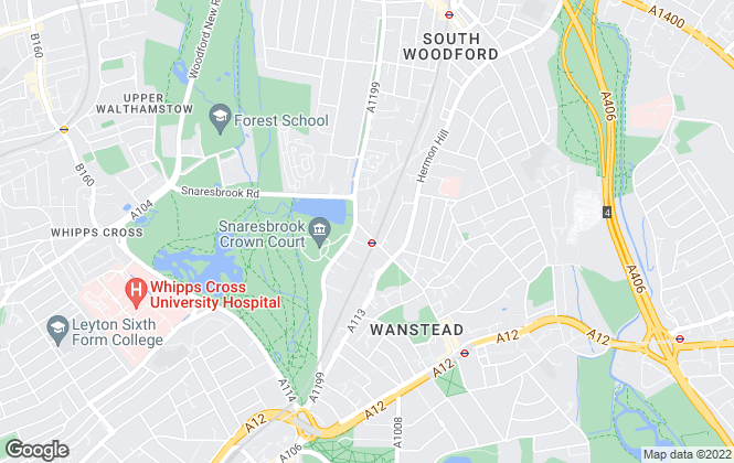 Map for Keatons, Wanstead