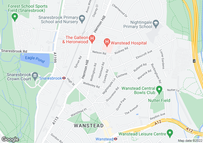 Map for Halstead Road,  Wanstead