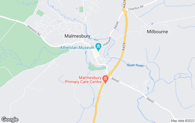 Map for Lockstones Estate Agents, Malmesbury