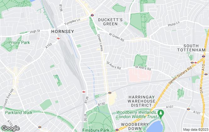 Map for Winkworth, Harringay