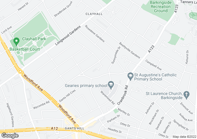 Map for BRONTE CLOSE GANTS HILL IG2