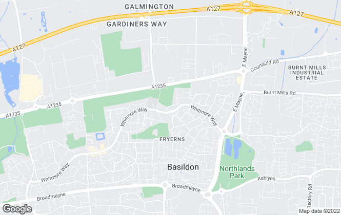 Map for Bairstow Eves, Fryerns