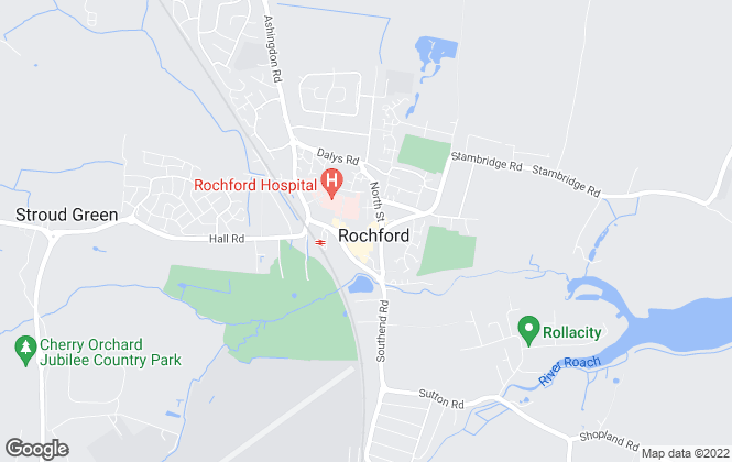 Map for Abbotts, Rochford
