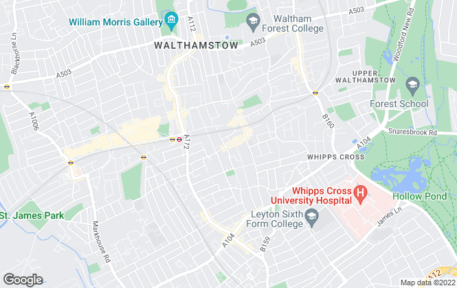 Map for Estates17, Walthamstow