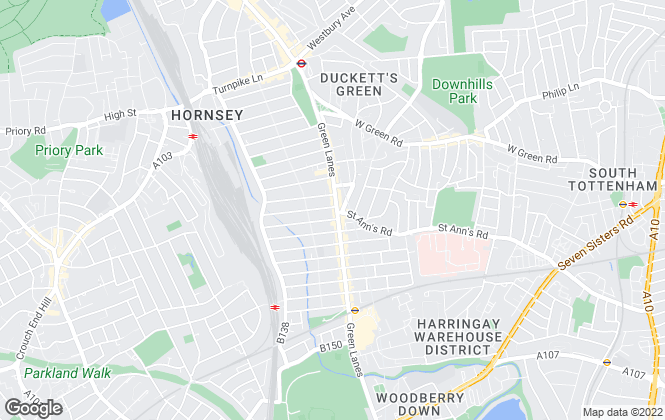 Map for David Key, Harringay