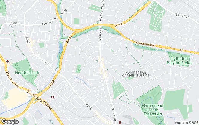 Map for Alan Goldin Estates Ltd, Temple Fortune