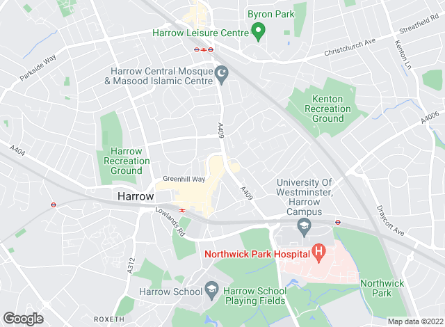 Map for Rawlinson Gold, Harrow Town Centre - Sales