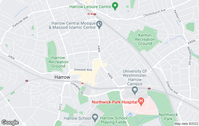 Map for Rawlinson Gold, Harrow Town Centre - Lettings