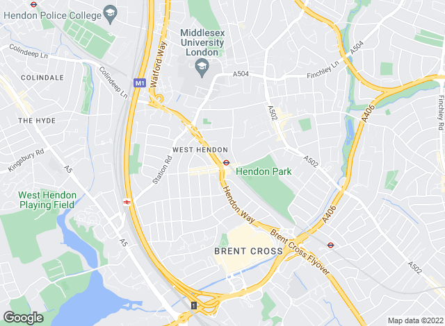 Map for Douglas Martin, Hendon Central - Sales