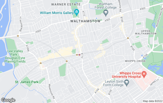 Map for Strettons, Walthamstow