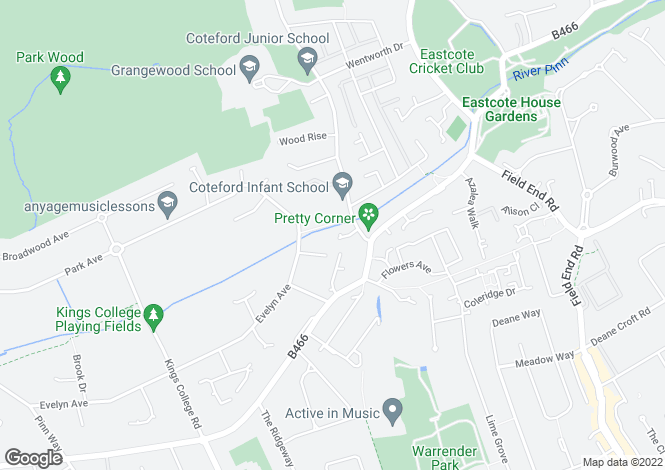 Map for Armstrong Close, Eastcote, Pinner, Middlesex, HA5