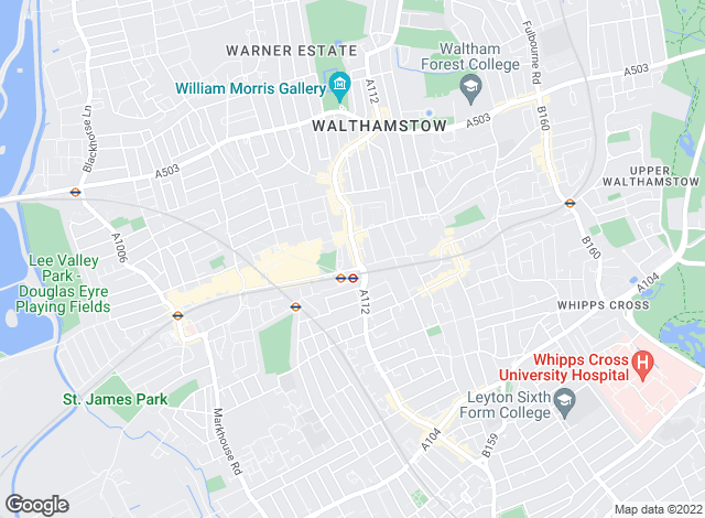 Map for Winkworth, Walthamstow & Leyton