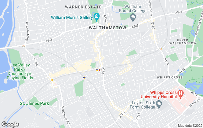 Map for Central Estate Agents, Walthamstow