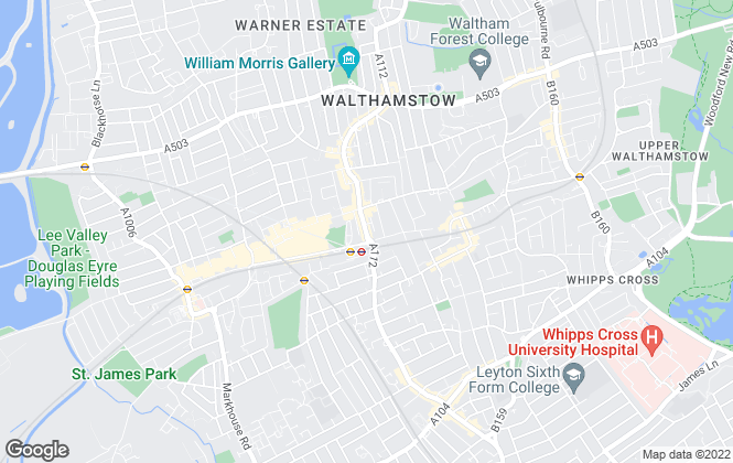 Map for Foxtons, Walthamstow