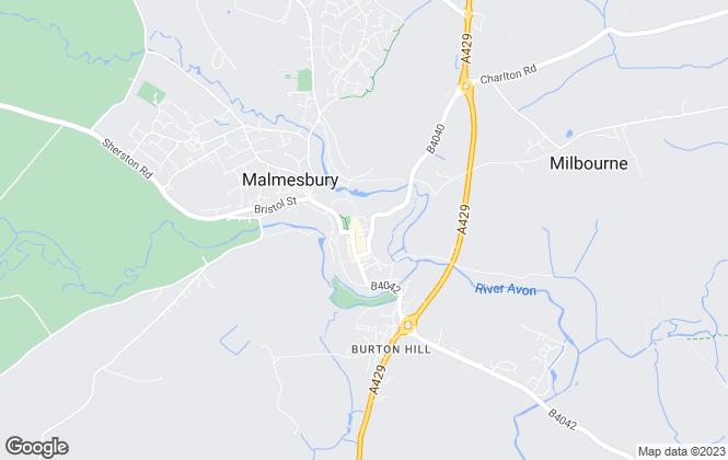 Map for Fielder & Jones, Malmesbury