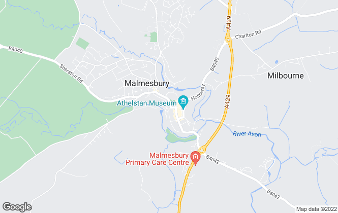 Map for Elliott Properties, Malmesbury