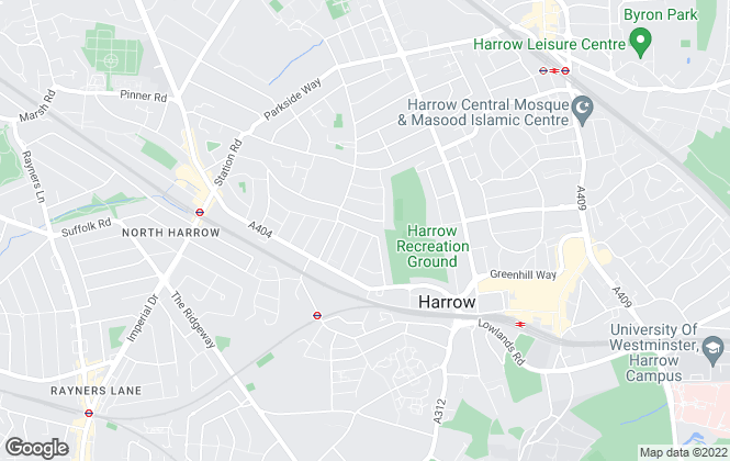Map for Brian Cox, North Harrow