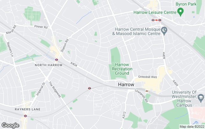 Map for Brian Cox, North Harrow