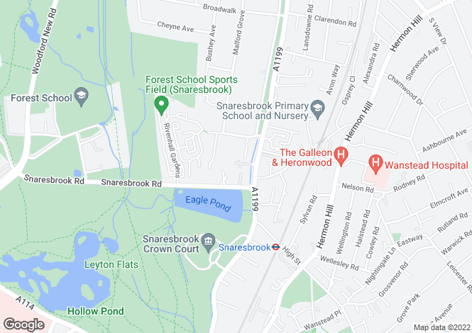 Map for Woodford Road, Snaresbrook