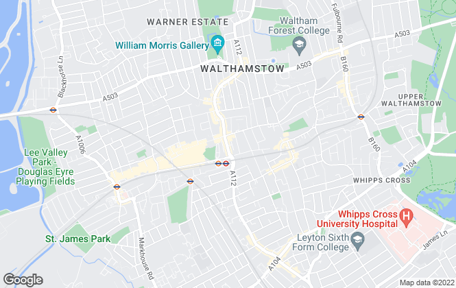 Map for Churchill Estates, Walthamstow