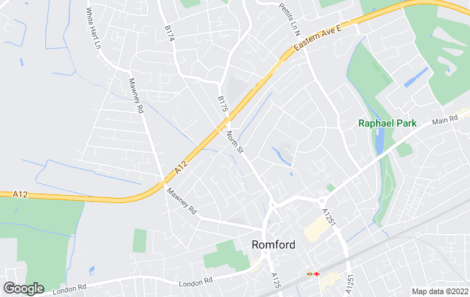 Map for Martin & Co, Romford - Sales and Lettngs
