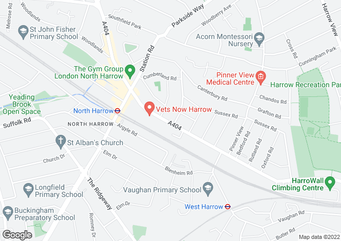 Map for Pinner Road, Harrow, HA1