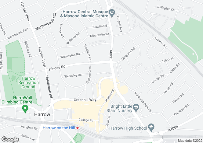 Map for Fairholme Road, Harrow