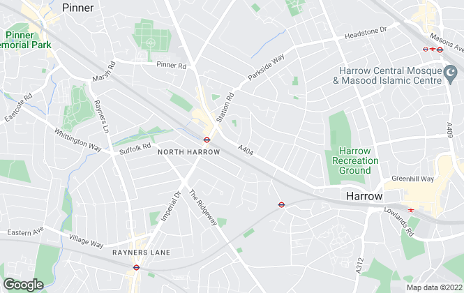 Map for David Key, Harrow