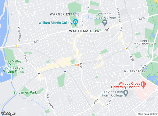 Map for Victoria Knight, Walthamstow