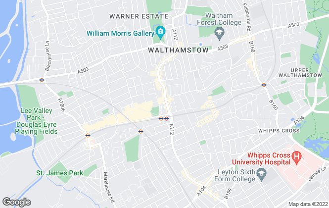 Map for Your Move , Walthamstow