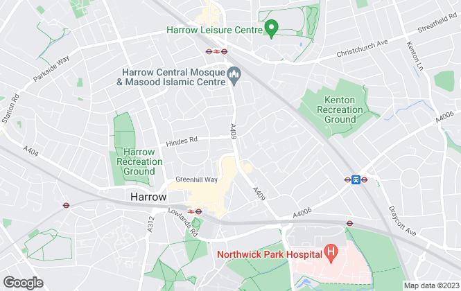Map for Brockenhurst Estates, Central Harrow