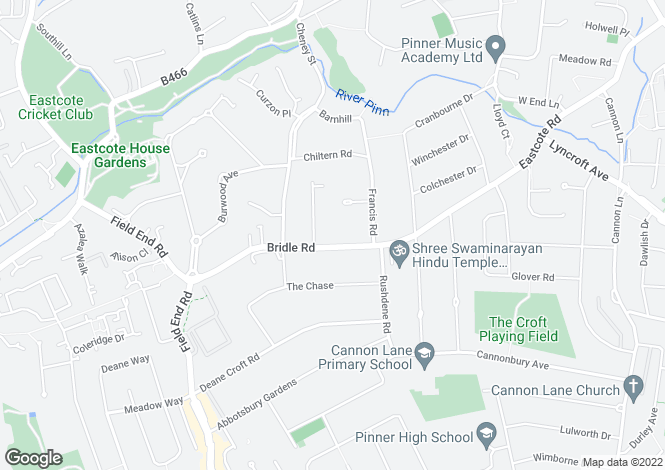 Map for Bridle Road,