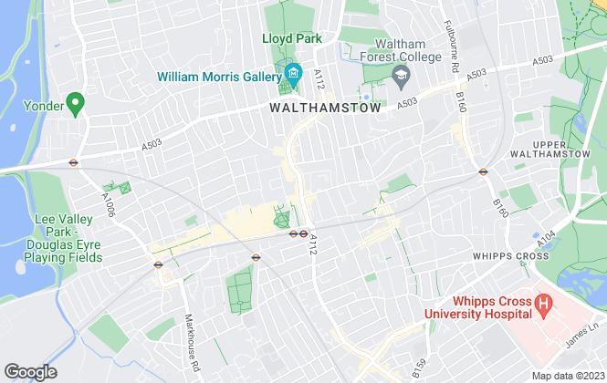 Map for Douglas Allen, Walthamstow