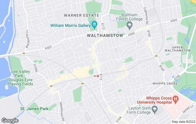 Map for Douglas Allen, Walthamstow