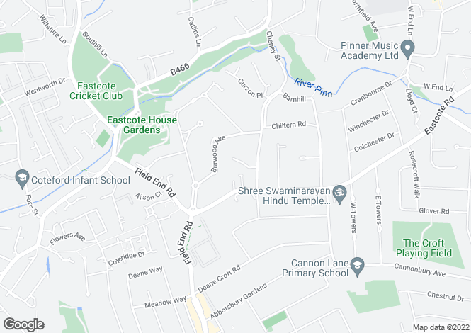 Map for Nightingale Close, Cheney Street, Pinner, Middlesex, HA5