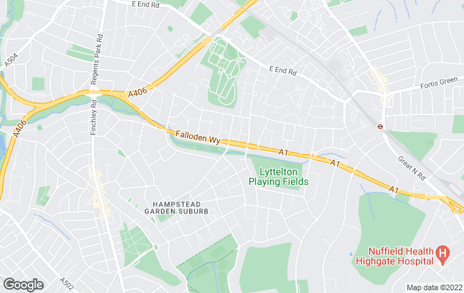 Map for Godfrey And Barr, Hampstead Garden Suburb