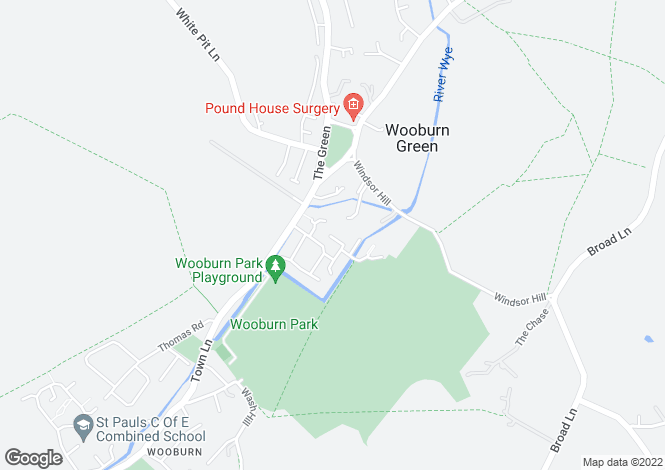 Map for Wooburn Mews, Wooburn Manor Park, High Wycombe, HP10