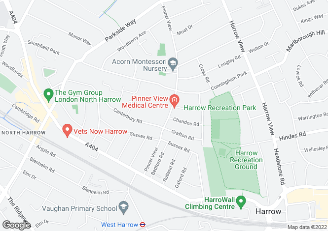 Map for Pinner View, North Harrow