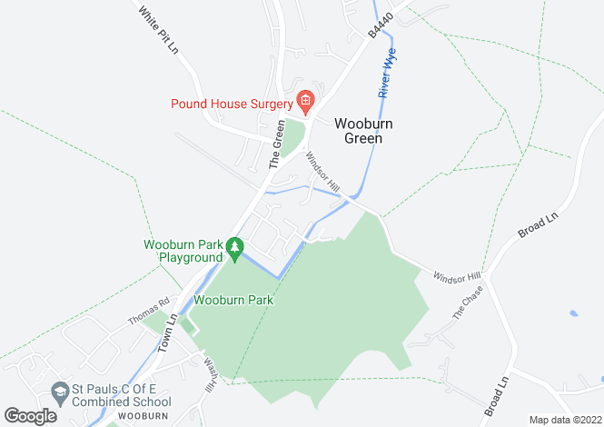 Map for Windsor Lane, Wooburn Green, Buckinghamshire, HP10