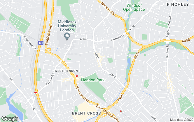 Map for ABC Estates London, Hendon